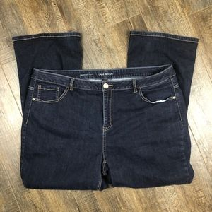 Lane Bryant Dark Wash Denim | Bootcut Pants (28R)